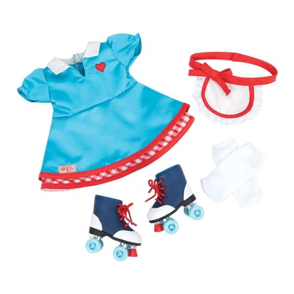 Dress and roller skates