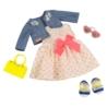 Платье с сердечками и жакетом