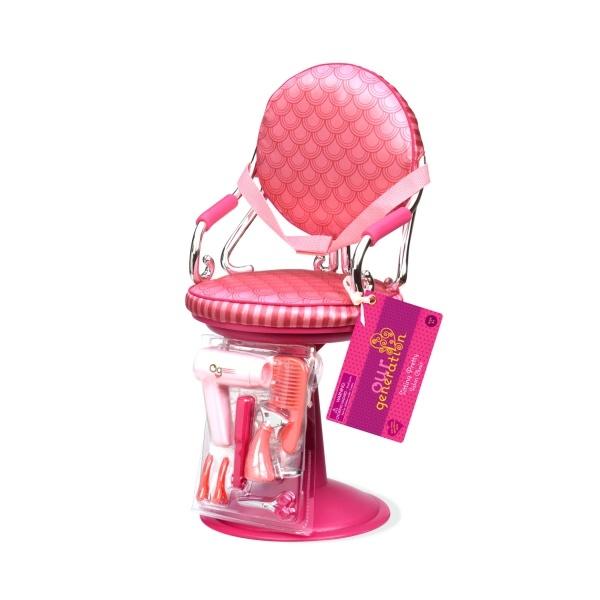 Крісло для салону рожеве