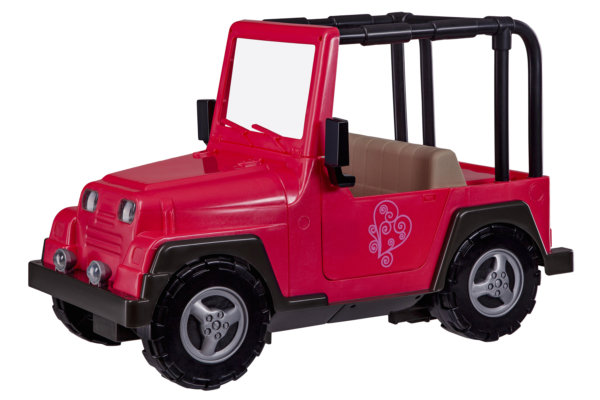 Pink Jeep with black frame