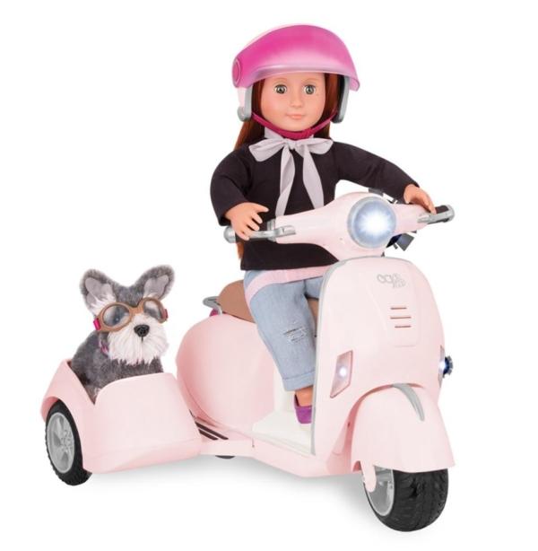 Скутер з бічним кошиком