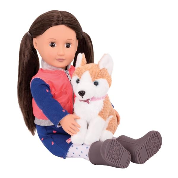 Лесли с собакой