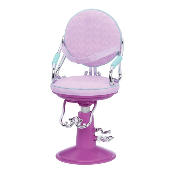 Крісло для салону фіолетове