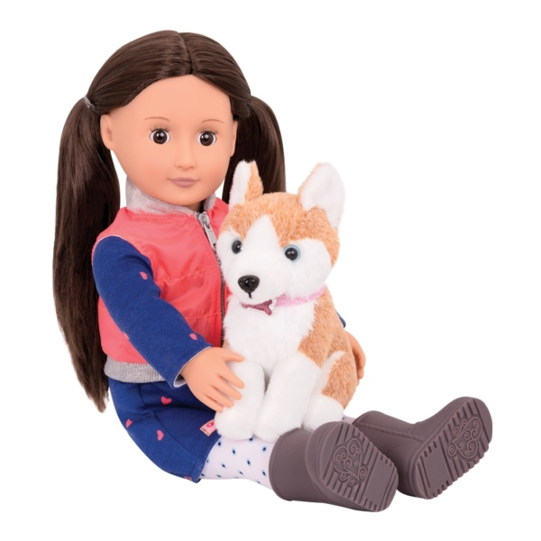 Леслі з собакою