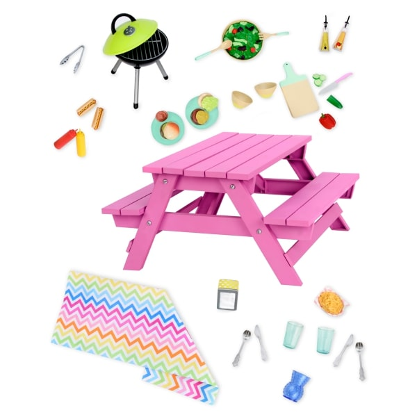 Our Generation Игровой набор — Стол для пикника с аксессуарами